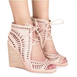 Jeffrey Campbell Rodillo Nude Wedges